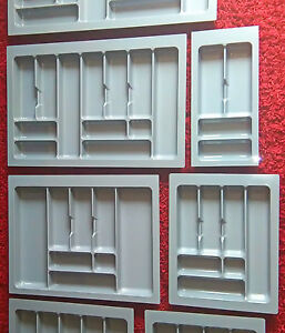Kitchen Cutlery Trays Drawers Blum Tandembox Inserts Plastic various sizes