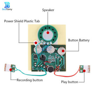 30s Recordable Music Sound Voice Module for DIY Card Music Box with speaker Wire