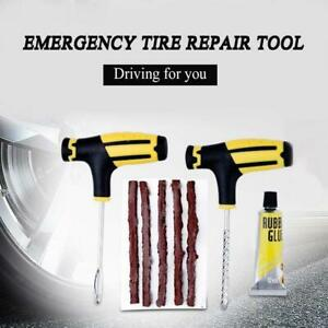 Emergency Tubeless Car Tyre Puncture Repair Grip Tool Flat Tyre Plug Puncher Kit