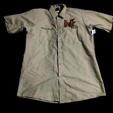 Duff Beer Quality Control Work Shirt The Simpsons Universal Studios Men's Medium