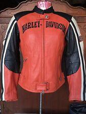 Harley Davidson Jacket Rare Racing Riding for Women XS 97073-05VW Orange Black