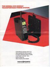 "Vintage Ad Sales Sheet: Nokia ""Mobira 432 Mobile/Transportable Phone System"""