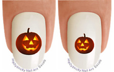 Nail Decals #736H HOLIDAY Halloween Jack O Lantern 1 WaterSlide Nail Transfers
