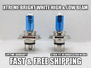 Xtreme Bright White Headlight Bulb For Lada Samara 1988-1993 High & Low Set of 2