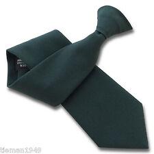 Matt Bottle Green Security Guard or Bouncer Clipper Clip On Snapper Uniform Tie