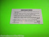 POKERINO By WILLIAMS 1978 ORIGINAL PINBALL MACHINE INSTRUCTION CARD DOUBLE SIDED
