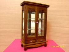 Small Display Cabinet Wood Teak GlassThai Craft Cupboard Furniture Dollhouse