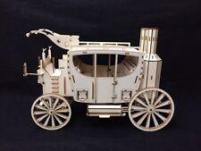 Découpe Laser Bois Steampunk Stage Coach Modèle 3D/PUZZLE Kit