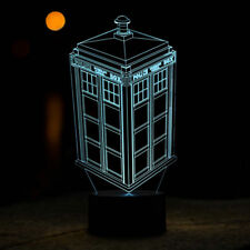 Desk Lamp Touch Room Decor Gift Doctor Who Tardis Night Light 7 Color Change LED