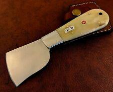 Handmade High Carbon Steel Leather Cutter-Skiving Tool-Sheath -QC35