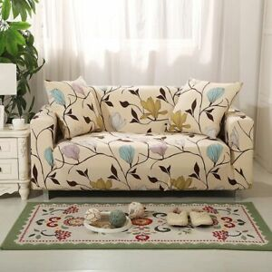 Slipcover Floral Sofa Covers Living Room Furniture Protector Elastic Couch Cover