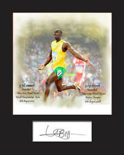 USAIN BOLT Signed Photo Print A5 Mounted Photo Print - LIMITED EDITION ARTWORK