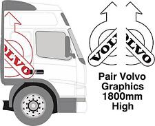 volvo truck decal 2x extra large 1800mm high logos, in any colour, for cab sides