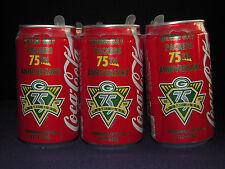 1919-1993 GREEN BAY PACKERS 75th Anniversary COKE 12 oz. Can Vtg NFL Soda Empty