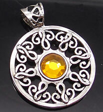 """Celtic Sun Silver Tone Pewter Pendant with 20"""" Necklace PP#268"""