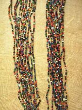 12 Halsketten.Total bunt.Hipp - Hopp. Hippie.Halsschmuck.Glasperlenkette? 58 cm