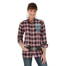 Wrangler Womens WESTERN Shirt - Studs with Metallic Embroidery - M - LJ1341X