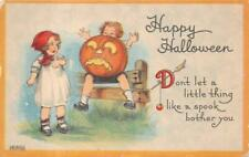 HALLOWEEN HOLIDAY CHILDREN JOL POSTCARD (c. 1910)