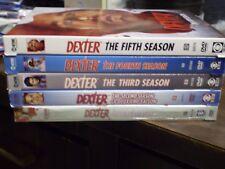 (5) Dexter Season DVD Lot: Dexter Seasons 1-5  All w/Slipcovers  Michael C. Hall