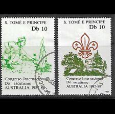 1988 - Sao Tome and Principe World Scout Jamboree, Australia 2 Used Mi#1068/9