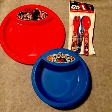 Star Wars Kids Dishes Play Set Bowl Plate Flatware the force awakens 6 piece