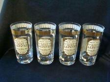 New ListingRare Set of 4 Wild West Cera 22K Gold Overlay Highball Cocktail Tumbler Glasses