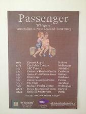 PASSENGER Whispers 2015 Australian & New Zealand Tour Poster A2 Let Her Go *NEW*