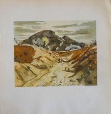 Yves BRAYER (1907-90) Lithographie 1948 Le chemin des Espagnols Jeune Peinture