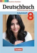 Deutschbuch 8. Schuljahr. Arbeitsheft mit Lösungen. Differenzierende Ausgabe Nor