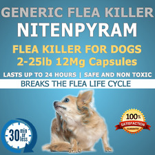 "Dogs 90ct. 2-25lb 12mg ""Generic Flea Killer"" Nitenpyram"