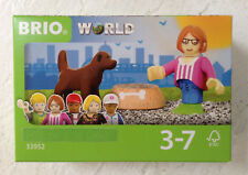 Brio World 33952 VILLAGE FIGURE & DOG Brand New In Package Ages 3-7 3 pcs