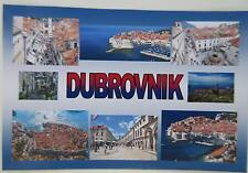 DUBROVNIK - JUMBO FRIDGE MAGNET -Old Town,Ancient City Walls,Cable Car, Lokrum