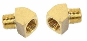 """Empi 9237 Brass Fittings 45 Degree, Female 3/8"""" NPT X 3/8"""" Male NPT, Pair"""