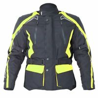 RST Rallye 1888 Waterproof Textile Motorcycle Jacket CE Armour FLO YELLOW  40