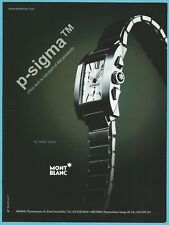 MONT BLANC watch Print Ad