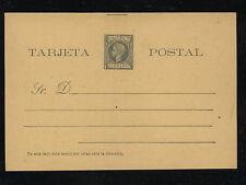 Spain    Puerto  Rico  postal card 1 cent green         KL0503