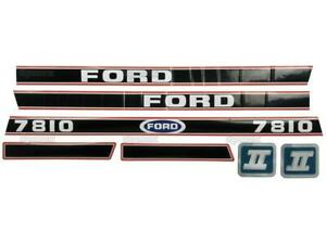 BONNET DECAL SET FOR FORD 7810 FORCE II TRACTORS