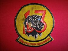 Vietnam War US Air Force 13th FIGHTER Squadron ELDRIDGE Black Panther Patch
