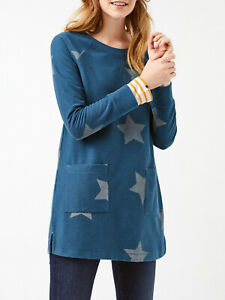 EX WHITE STUFF Teal Starlight Jersey Tunic Sizes 10, 12, 16, 18 RRP £49.50