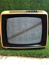 Vintage 1960s Iskra White Plastic TV 12' B/W Television No. 17006-18 Works Retro