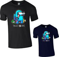 Impostor T-Shirt Among Us Video Game Trust No One Funny Gaming Gift Tee Top