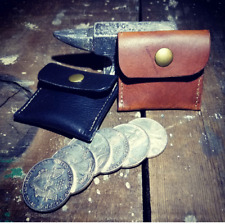 HANDMADE LEATHER COIN POUCHES: MADE IN THE USA: WILL HOLD UP TO 6 SILVER DOLLARS
