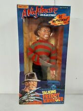 "1989 Nightmare on Elm Street 18"" Freddy Krueger Talking Pull String Doll NOB"
