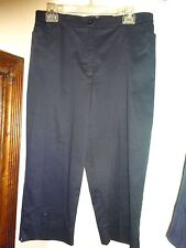 TRIBAL STRETCH Extensible Capri's Cropped Pants Navy Blue Size 10 NWT