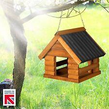 Wooden Fordwich Black Garden Hanging Bird Table 🇬🇧 Made in Great Britain🇬🇧