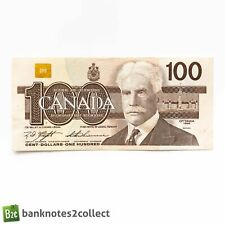 More details for canada: 1 x 100 canadian dollar banknote. dated 1988.