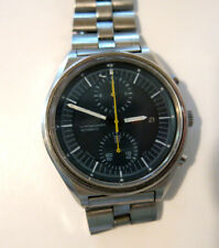 "Vintage 70s Seiko Chronograph Automatic ""Jumbo"" Stainless Steel Watch 6139-3002"