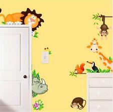 Stickers Muraux / Décoration Bébé Enfant Chambre Salon / Lion Girafe Animal Zoo