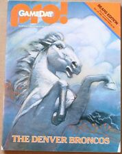 1981 Chicago Bears Denver Broncos Program Payton Singletary Morton Upchurch VG