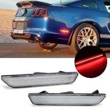 2X Clear Lens Red Parking Lamp LED Rear Side Marker Light For 10-14 Ford Mustang